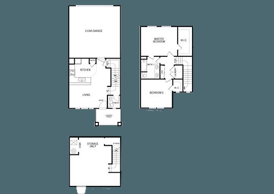 Floorplan for Jordan View Towns Apartments