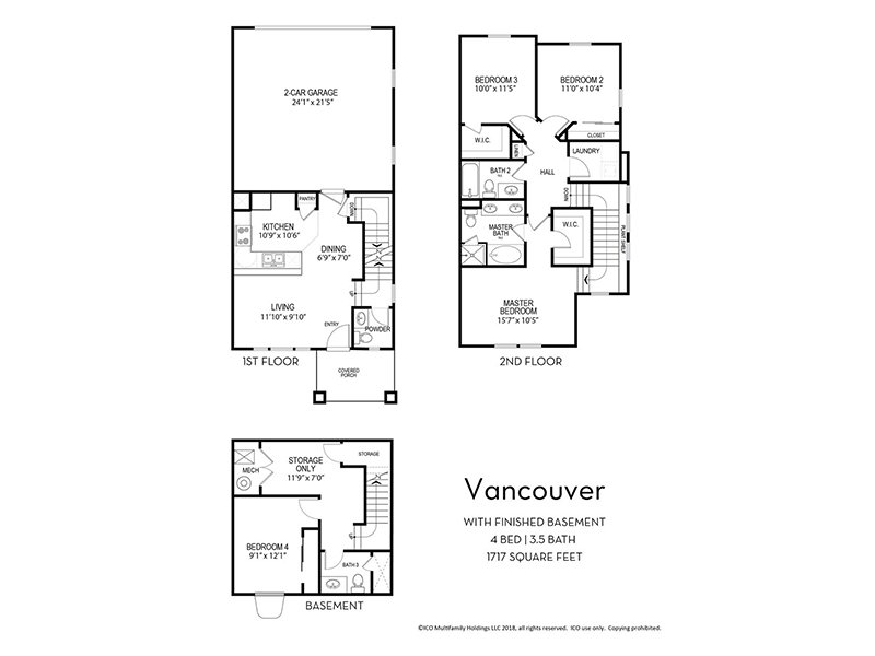 Our Vancouver w/ Finished Basement is a 4 Bedroom, 3.5 Bathroom Apartment