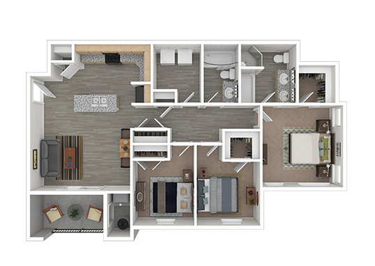 Floorplan for La Vida at Sienna Hills Apartments