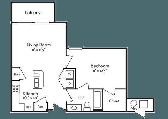 Floorplan for Legacy Ridge Apartments