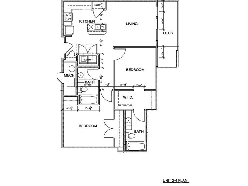 Our 2 Bedroom (2-4) is a 2 Bedroom, 2 Bathroom Apartment