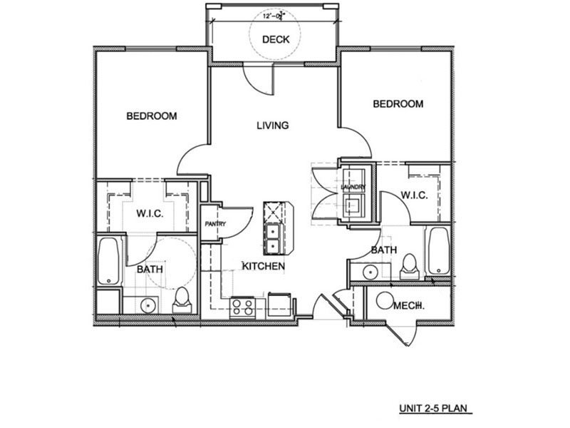 Our 2 Bedroom (2-5) is a 2 Bedroom, 2 Bathroom Apartment