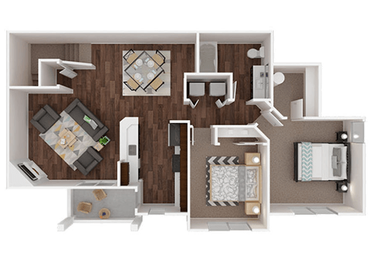 Floorplan for The Outlook Apartments