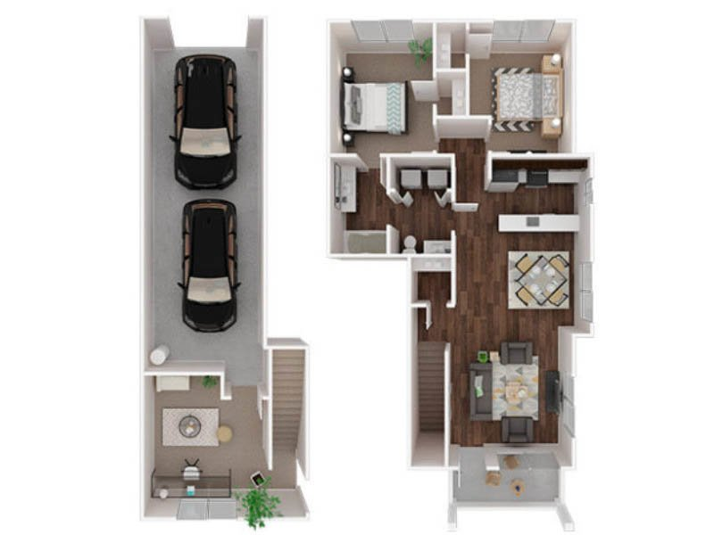 Our Chinook is a 2 Bedroom, 1.5 Bathroom Apartment