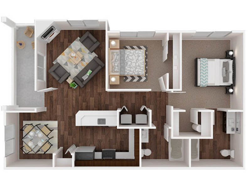 Our Ingraham is a 2 Bedroom, 2 Bathroom Apartment