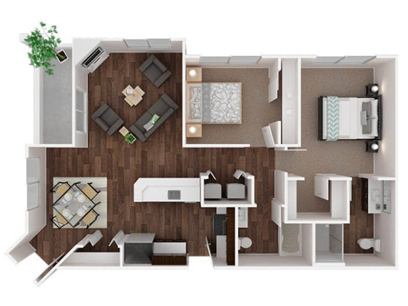 Our Ingraham 1 is a 2 Bedroom, 2 Bathroom Apartment