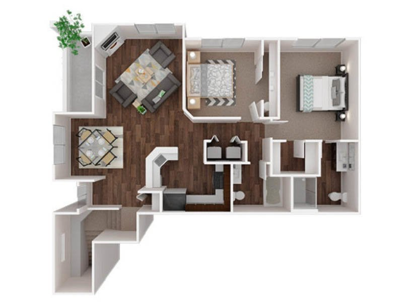 Our Ingraham 2 is a 2 Bedroom, 2 Bathroom Apartment