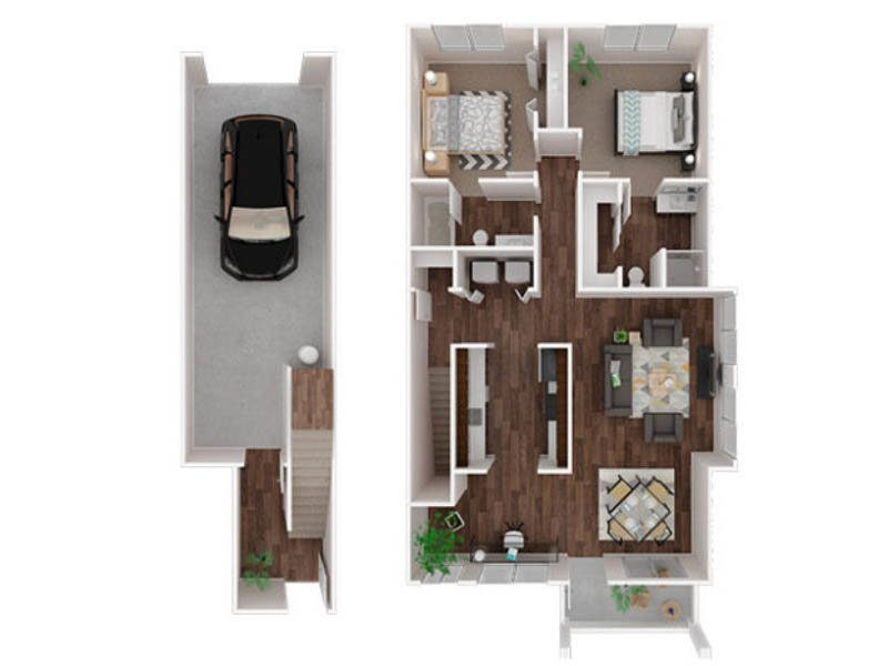 Our Mazama is a 2 Bedroom, 2 Bathroom Apartment