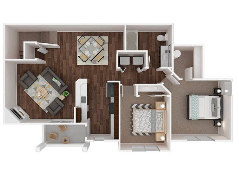 Our Mowich is a 2 Bedroom, 1 Bathroom Apartment
