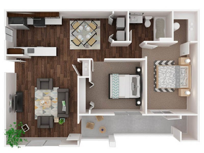 Our Muir is a 2 Bedroom, 1 Bathroom Apartment