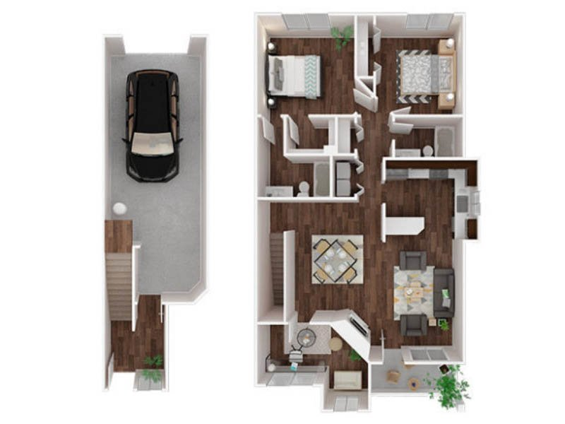 Our Nisqually is a 2 Bedroom, 2 Bathroom Apartment
