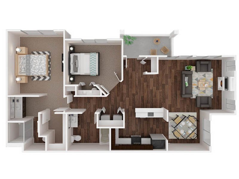 Our Puyallup is a 2 Bedroom, 2 Bathroom Apartment
