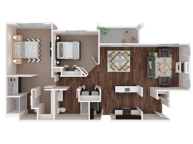 Our Puyallup 1 is a 2 Bedroom, 2 Bathroom Apartment