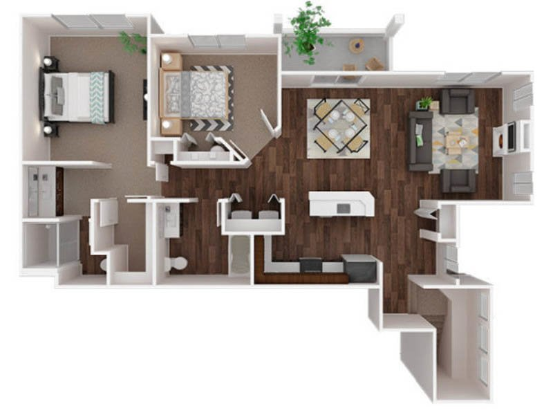 Our Puyallup 2 is a 2 Bedroom, 2 Bathroom Apartment