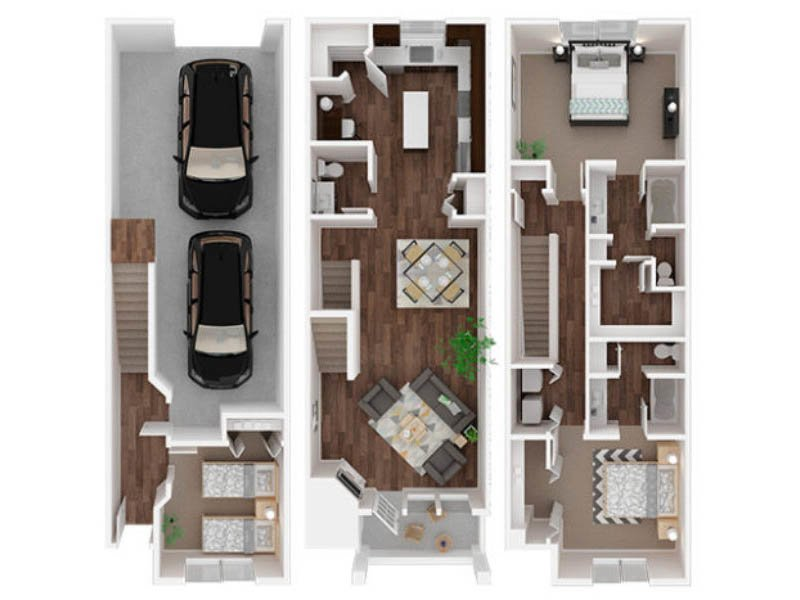 Our Tahoma is a 3 Bedroom, 2.5 Bathroom Apartment