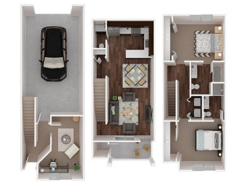 Our Winthrop is a 2 Bedroom, 2.5 Bathroom Apartment