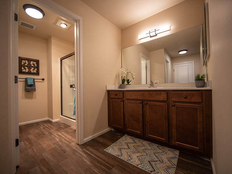 Model Bathroom | The Outlook Apartments in Graham, WA