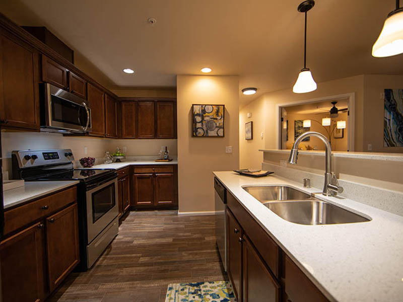 Fully Equipped Kitchen | The Outlook Apartments in Graham, WA