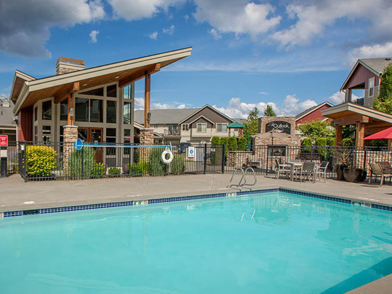 Swimming Pool | The Outlook Apartments in Graham, WA