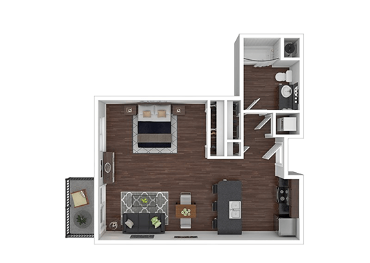 Floorplan for Joule Plaza Apartments