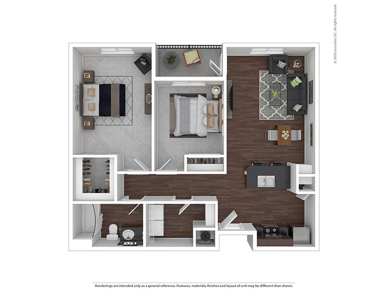 Our B is a 2 Bedroom, 1 Bathroom Apartment