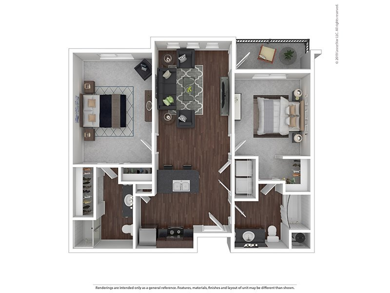 Our C is a 2 Bedroom, 2 Bathroom Apartment