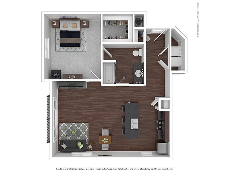 Our F is a 1 Bedroom, 1 Bathroom Apartment