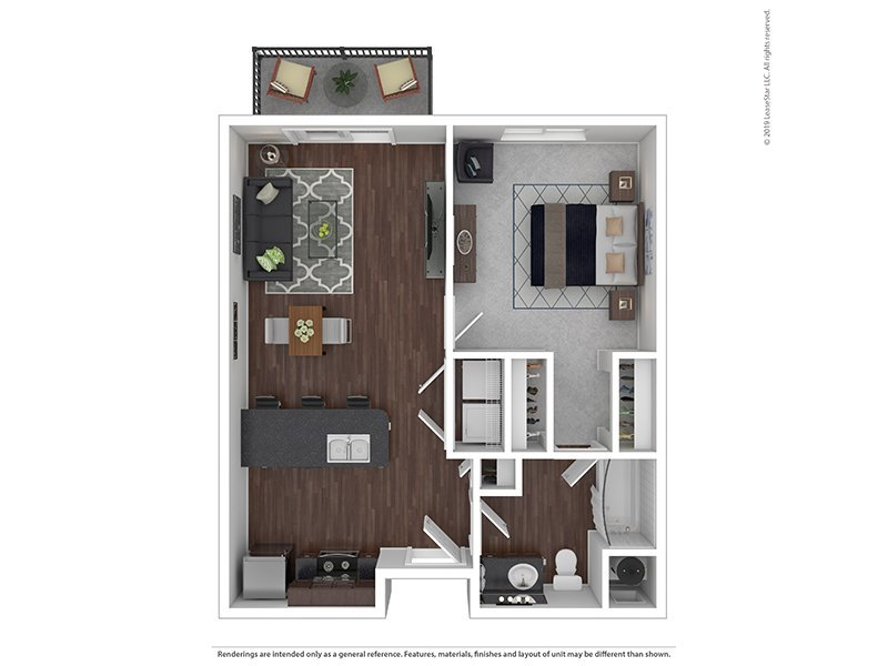 Our L is a 1 Bedroom, 1 Bathroom Apartment