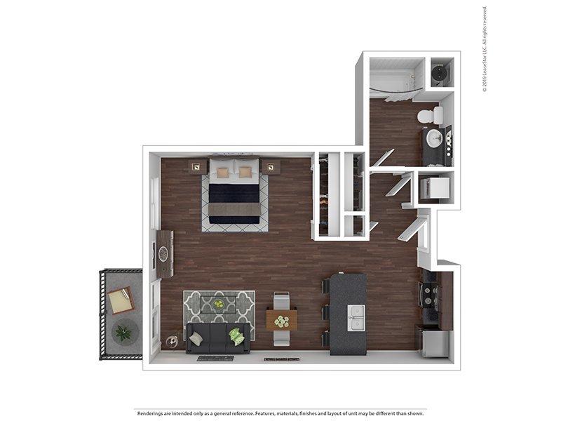 Our N is a Studio, 0 Bathroom Apartment