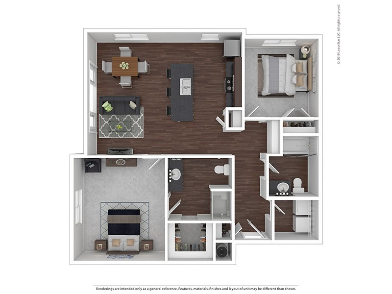 Our P is a 2 Bedroom, 2 Bathroom Apartment