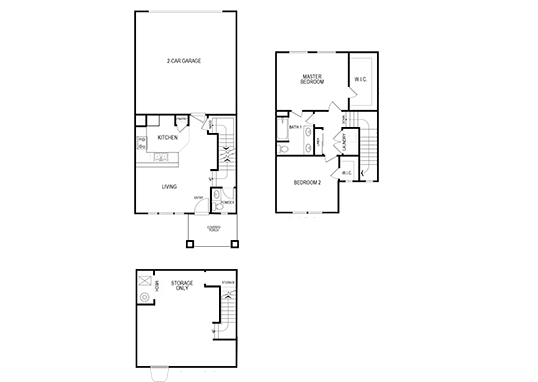 Floorplan for Parkview Towns Apartments