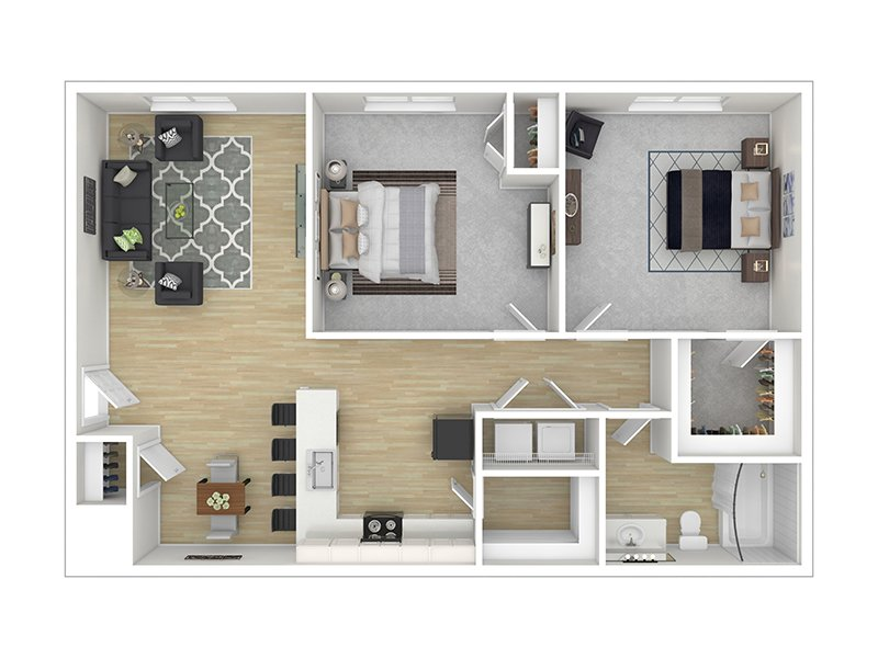 Our The Juniper is a 2 Bedroom, 1 Bathroom Apartment
