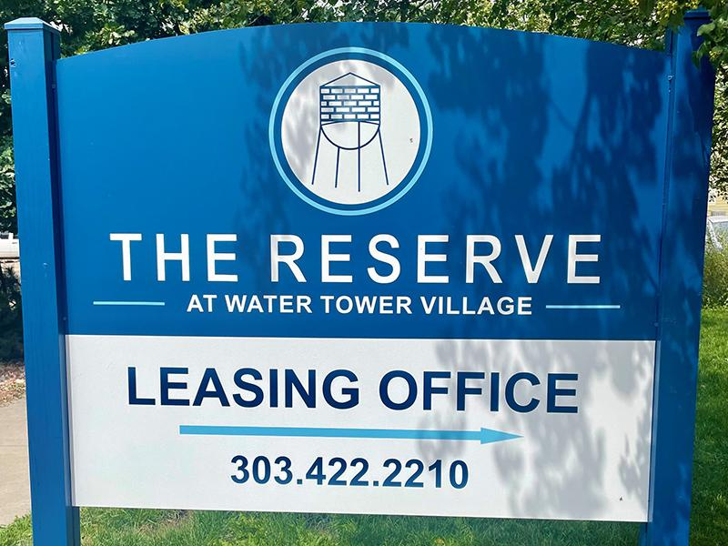 Welcome Sign   The Reserves at Water Tower Village Apartments