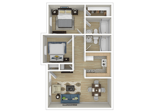 Floorplan for The Reserve at Andover Apartments