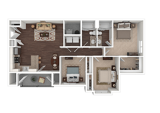 Floorplan for Springs at Copper Canyon Apartments