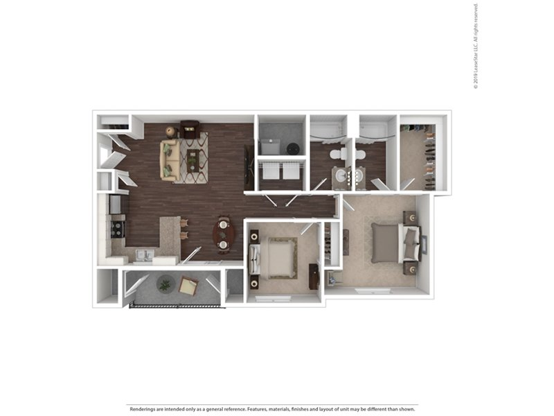 Our 2 Bedroom is a 2 Bedroom, 2 Bathroom Apartment