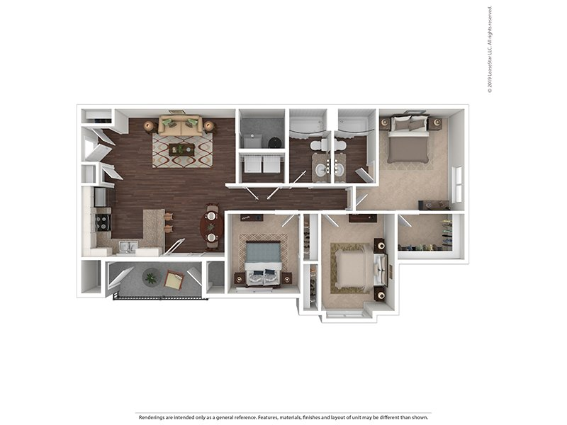 Our 3 Bedroom is a 3 Bedroom, 2 Bathroom Apartment