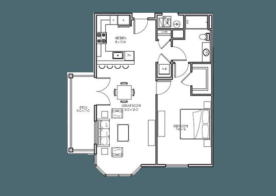 Floorplan for Gardner Station Apartments