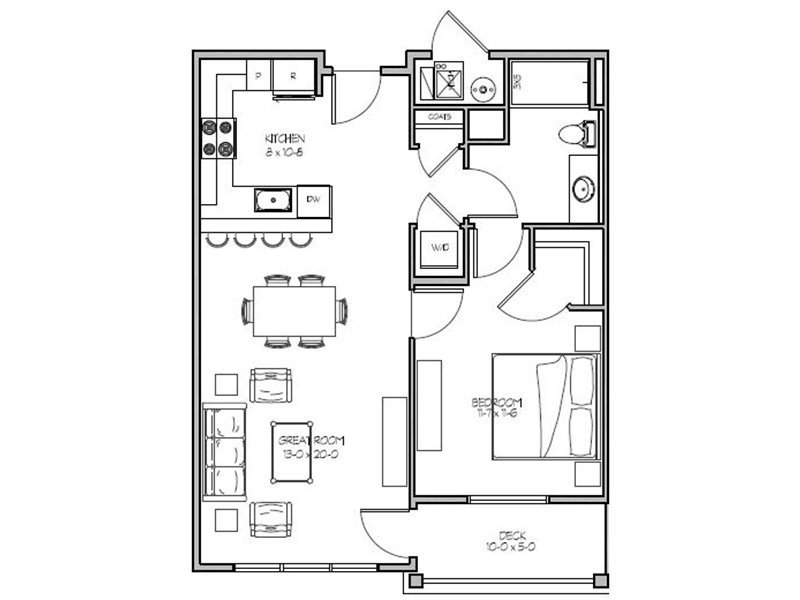 Our 1G is a 1 Bedroom, 1 Bathroom Apartment
