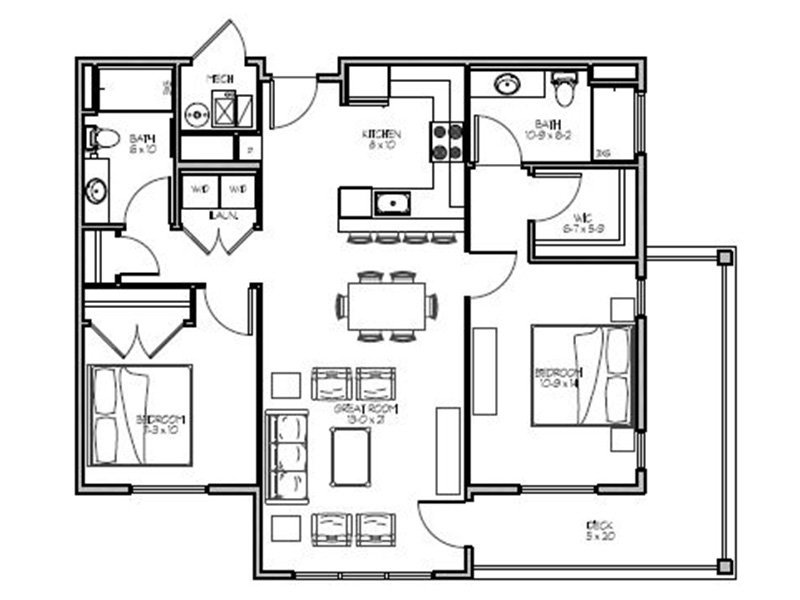 Our 2G is a 2 Bedroom, 2 Bathroom Apartment