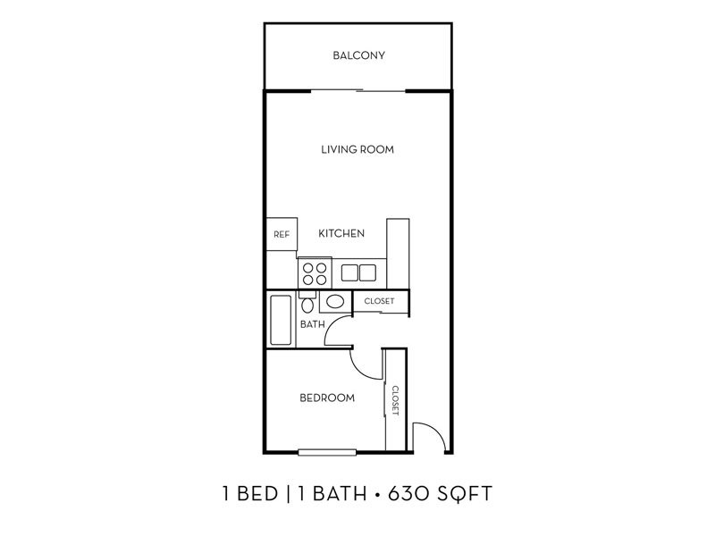 Our The Bay 1x1 W/D is a 1 Bedroom, 1 Bathroom Apartment