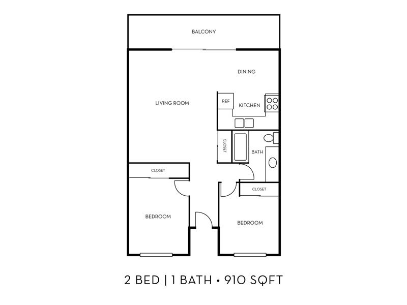 Our The Coastline 2x1 W/D is a 2 Bedroom, 1 Bathroom Apartment