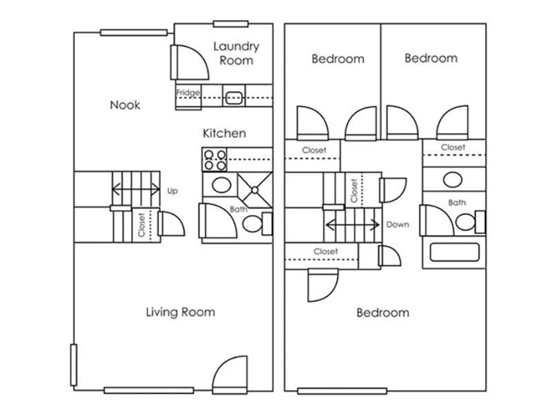 Our 3x2 Town W/D Renovated is a 3 Bedroom, 2 Bathroom Apartment