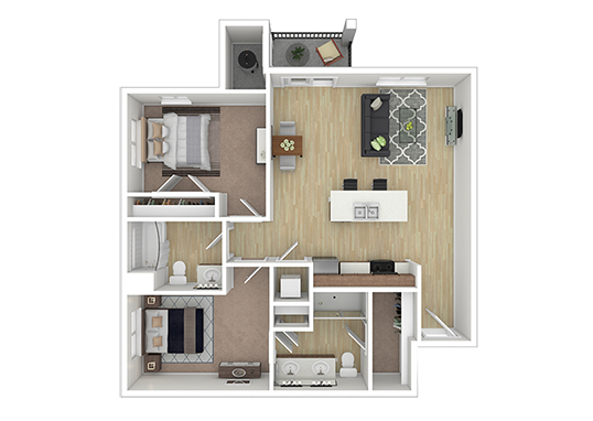 Floorplan for Sky at Brio Apartments