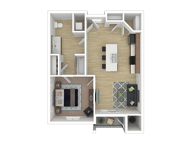 Our The Crimson is a 1 Bedroom, 1 Bathroom Apartment