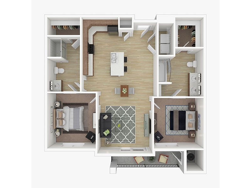 Our The Saffron is a 2 Bedroom, 2 Bathroom Apartment