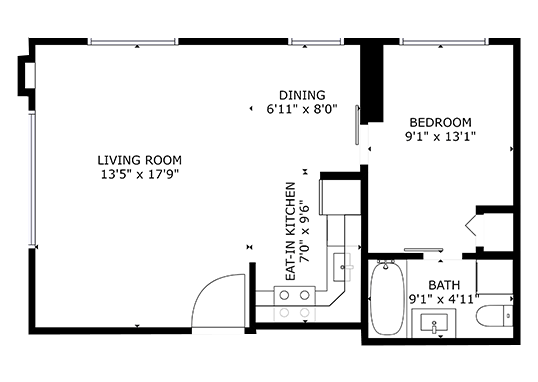 Floorplan for Stratton Apartments