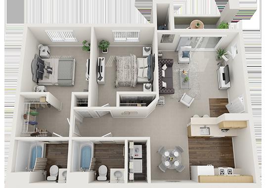 Floorplan for Silver Creek Apartments