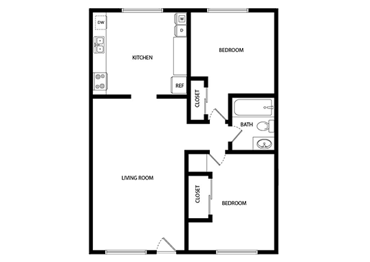 Floorplan for Yukon Court Apartments
