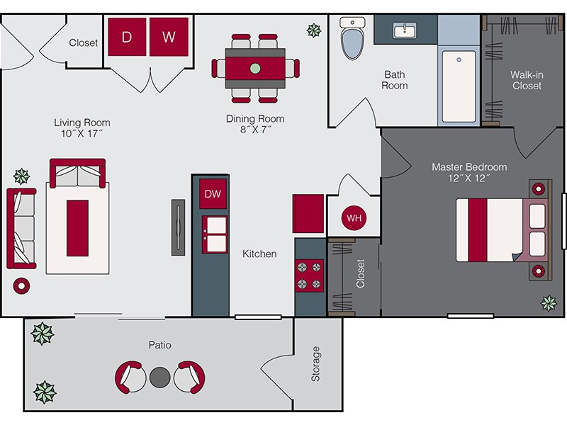Floor Plans at High Rock 5300 Apartments